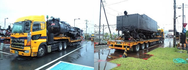 D52蒸気機関車の輸送