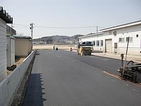 室内野球練習場の駐車場舗装工事